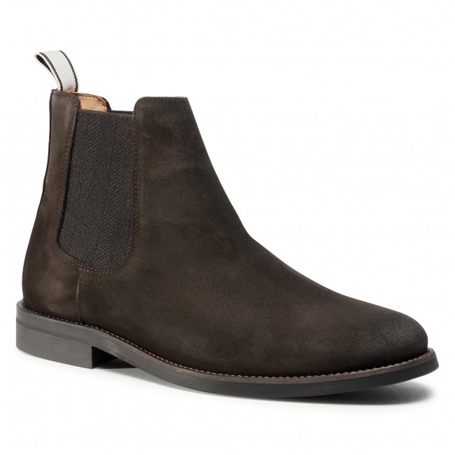 Kotníková obuv s elastickým prvkom GANT - Sharpville 21653035  Dark Brown G46