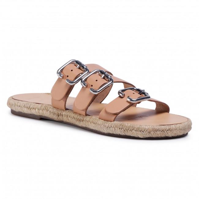 Espadrilky MANEBI - Leather Sandals S 2.0 Y0 Natural W Triple Buckle