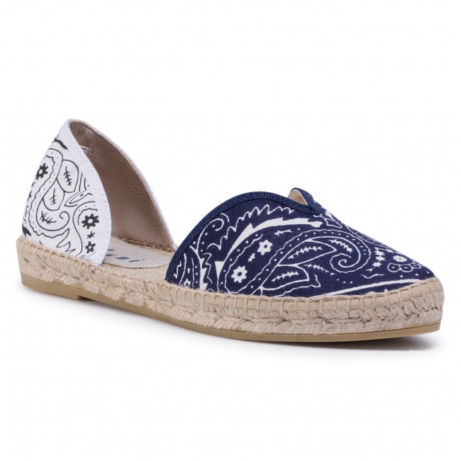Espadrilky MANEBI - Open-Side Flats F 9.6 O0 Navy White Bandana
