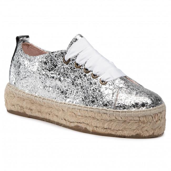 Espadrilky MANEBI - Sneakers D G 0.3 E0 Silver Crackle