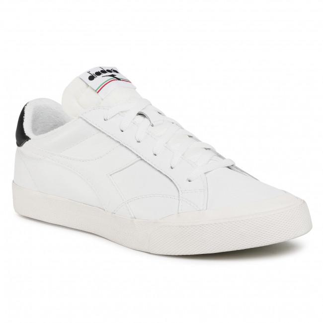 Sneakersy DIADORA - Melody Leather Dirty 501.176360-C1880 White/White/Black