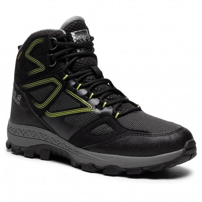 Trekingová obuv JACK WOLFSKIN - Downhill Texapore Mid M 4043871 Black/Lime
