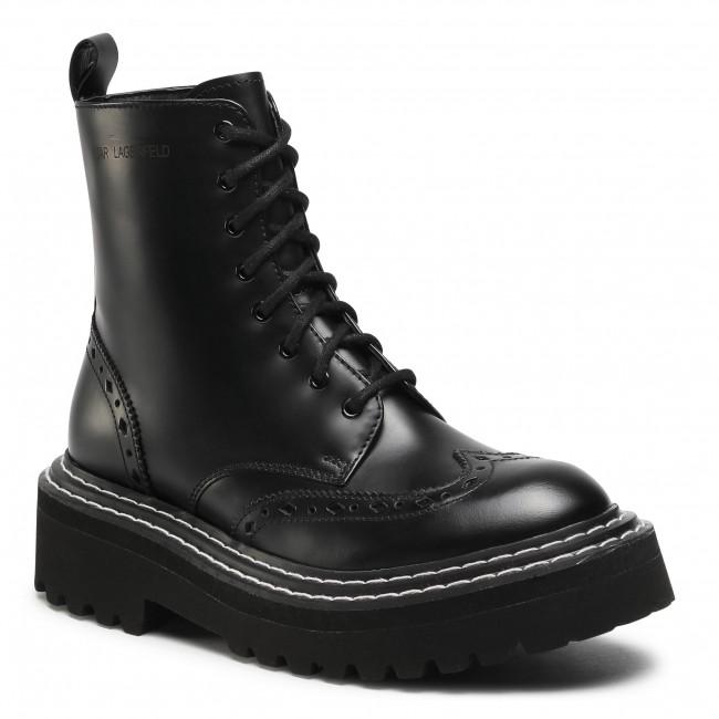 Outdoorová obuv KARL LAGERFELD - KL45255 Black Lthr