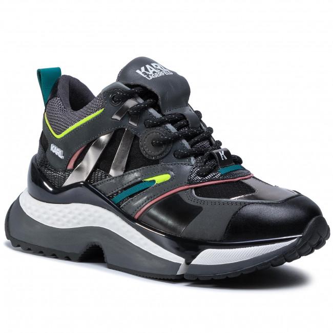 Sneakersy KARL LAGERFELD - KL61637 Dk. Grey
