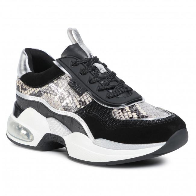Sneakersy KARL LAGERFELD - KL61727 Black Lthr/Textile W/White