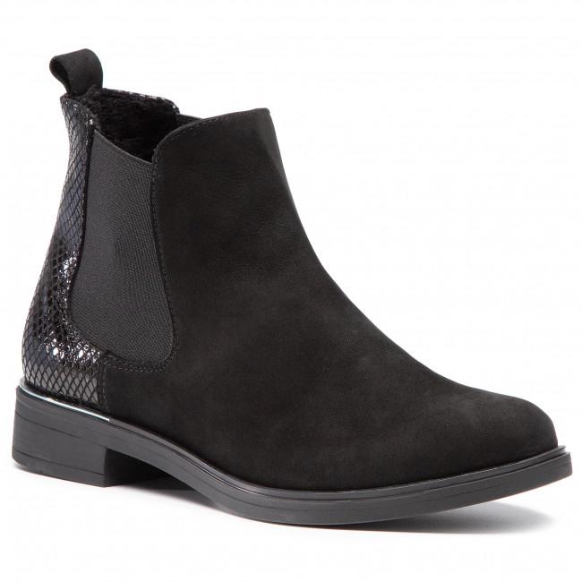 Kotníková obuv s elastickým prvkom ANN MEX - 1091 20C+01JL Čierna