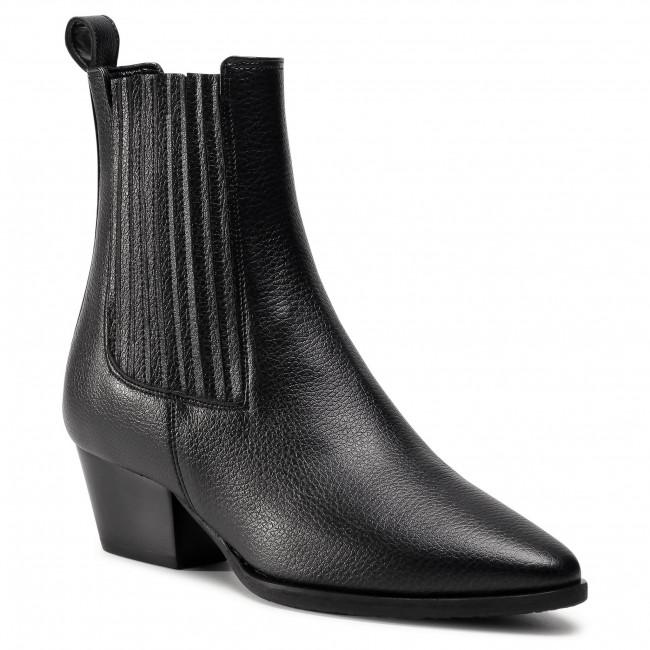 Kotníková obuv s elastickým prvkom POLLINI - SA24086G1BTR0000  Nero