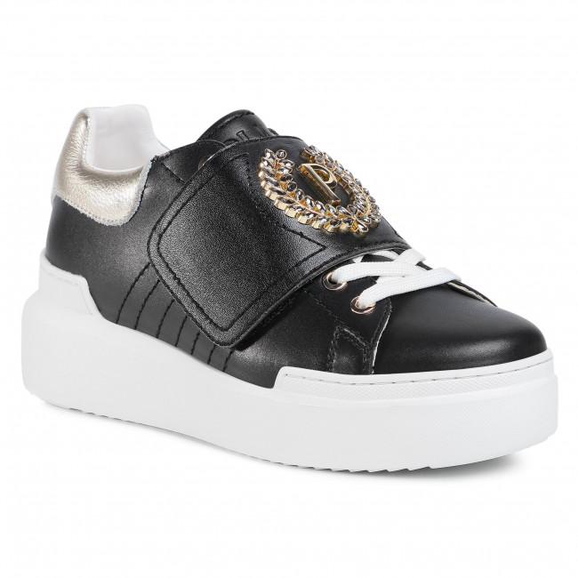 Sneakersy POLLINI - SA15094G1BXD100A Nero/Lam. Platino