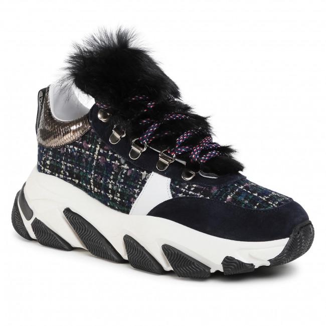 Sneakersy POLLINI - SA15156G0BXS200A Nero/Bia/Oce/Fuc