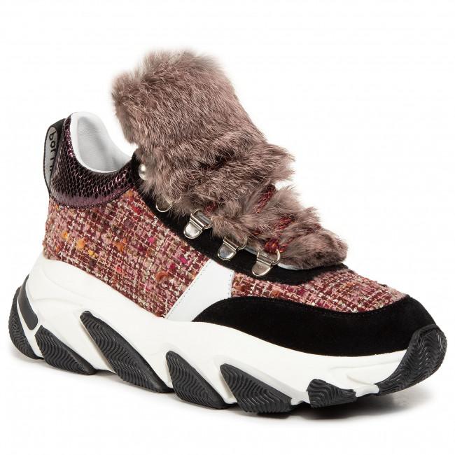 Sneakersy POLLINI - SA15156G0BXS255A  Brun/Bia/Nero/Bru