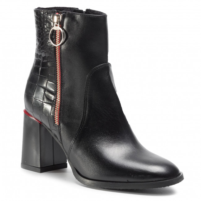 Členková obuv ANN MEX - 1119 01S+01KROK Čierna