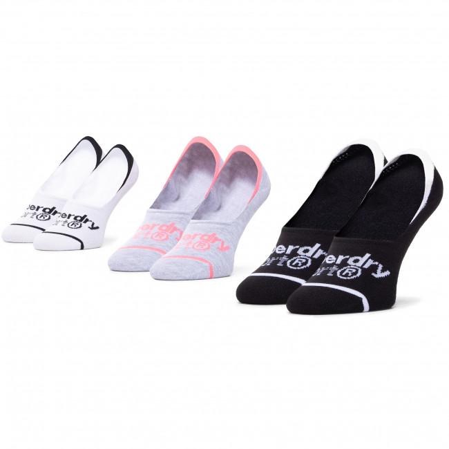 Súprava 3 párov kotníkových ponožiek dámských SUPERDRY - Collmax Invisible Sock 3Pk WS400010A Multi 64L