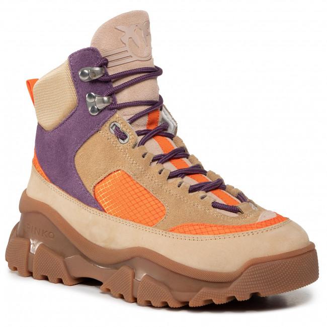 Sneakersy PINKO - Love Trek High 2 AI 20-21 PBKSH 1P21XZ Y6PV Mult. Beige CY4