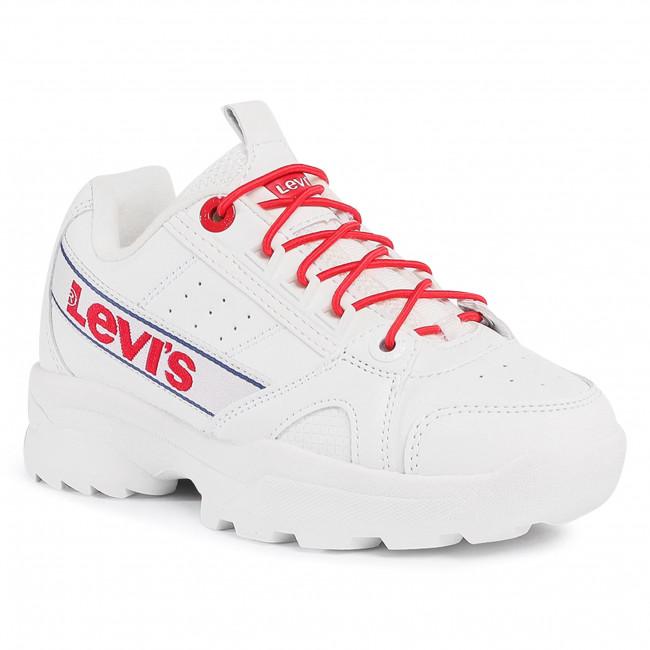 Sneakersy LEVI'S® - VSOH0050S White Red 0079