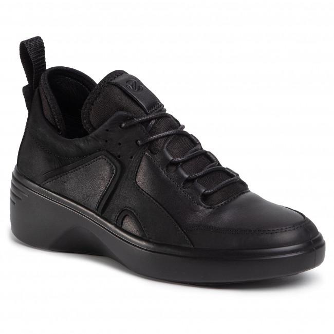 Sneakersy ECCO - Soft 7 Wedge W 47092351052 Black/Black