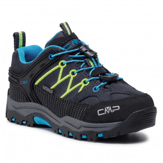 Trekingová obuv CMP - Kids Rigel Low Trekking  Shoes Wp 3Q13244 Antracite/Yellow Fluo 34UF