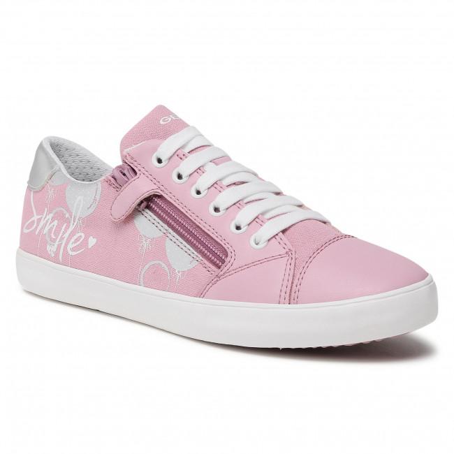 Sneakersy GEOX - J Gisli G. B J024NB 0AW54 C0514 D Pink/Silver