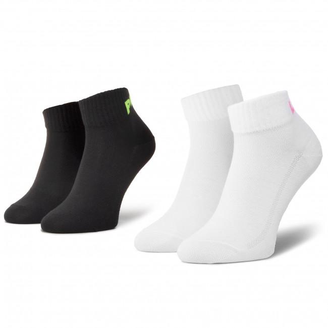 Súprava 2 párov kotníkových ponožiek unisex LEVI'S® - 37157-0460 Black Combo