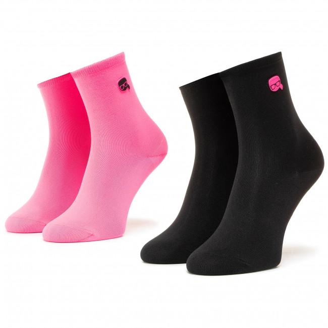 Súprava 2 párov vysokých ponožiek dámskych KARL LAGERFELD - 205W6005  Multi A900