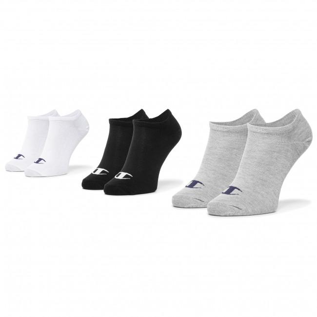 Súprava 3 párov kotníkových ponožiek unisex CHAMPION - CH0008QI 8WU One Color Logo M