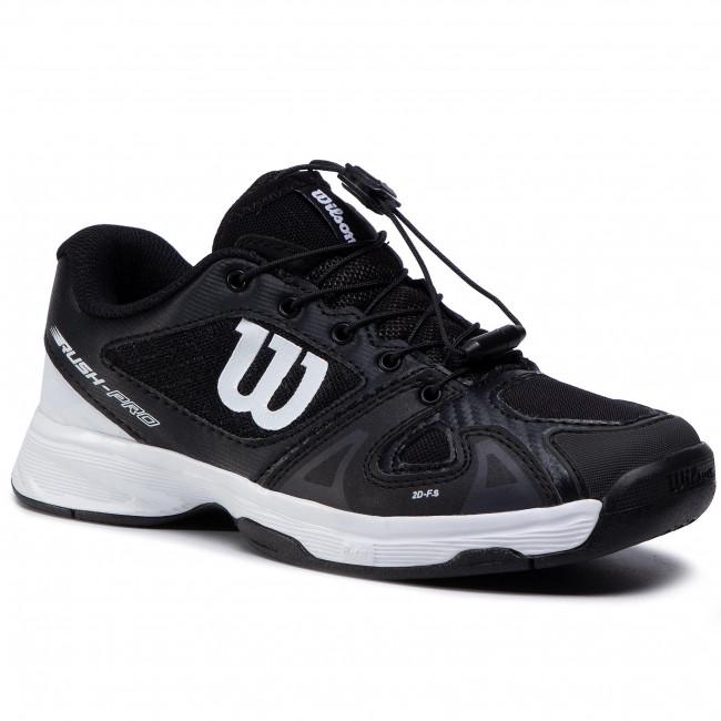 Topánky WILSON - Rush Pro Jr Ql WRS326230 Black/Wht/Black