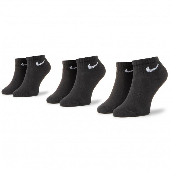 Súprava 3 párov kotníkových ponožiek unisex NIKE - SX7667-010 Čierna