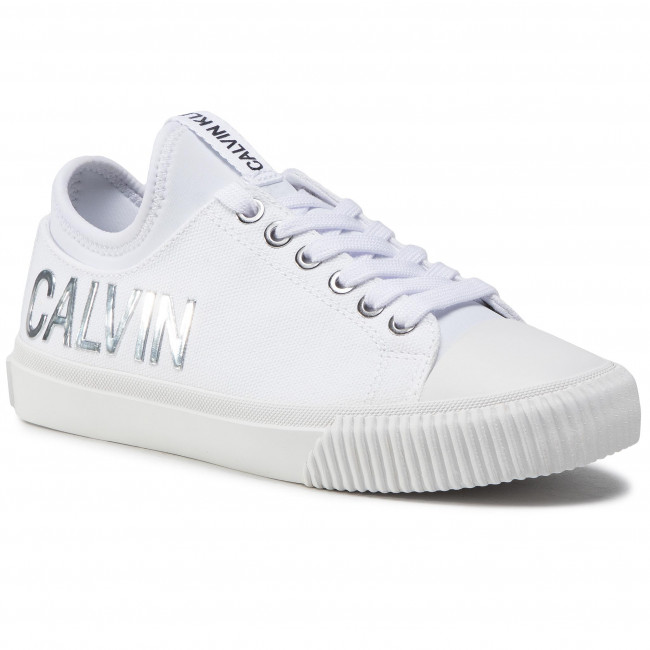 Tramky CALVIN KLEIN JEANS - Irisa B4R1631 White/Silver
