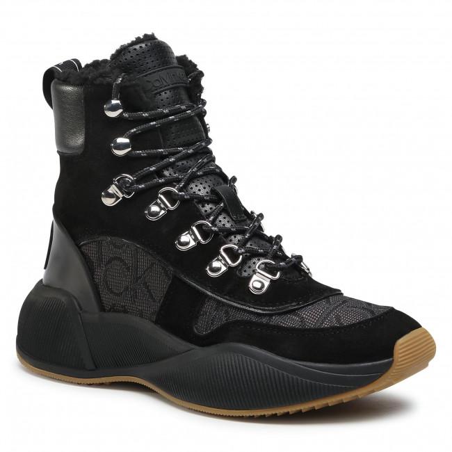 Členkové čižmy CALVIN KLEIN - Bonnet B4E00143 Black