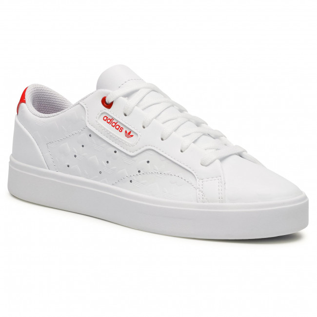 Topánky adidas - Sleek W FZ1829 Ftwwht/Scarle/Cblack
