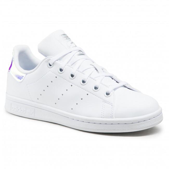 Topánky adidas - Stan Smith J FX7521 Ftwwht/Ftwwht/Silvmt