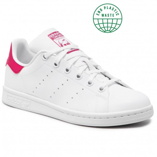 Topánky adidas - Stan Smith J FX7522 Ftwwht/Ftwwht/Bopink