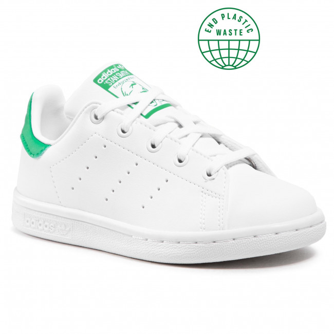 Topánky adidas - Stan Smith C FX7524 Ftwwht/Ftwwht/Green