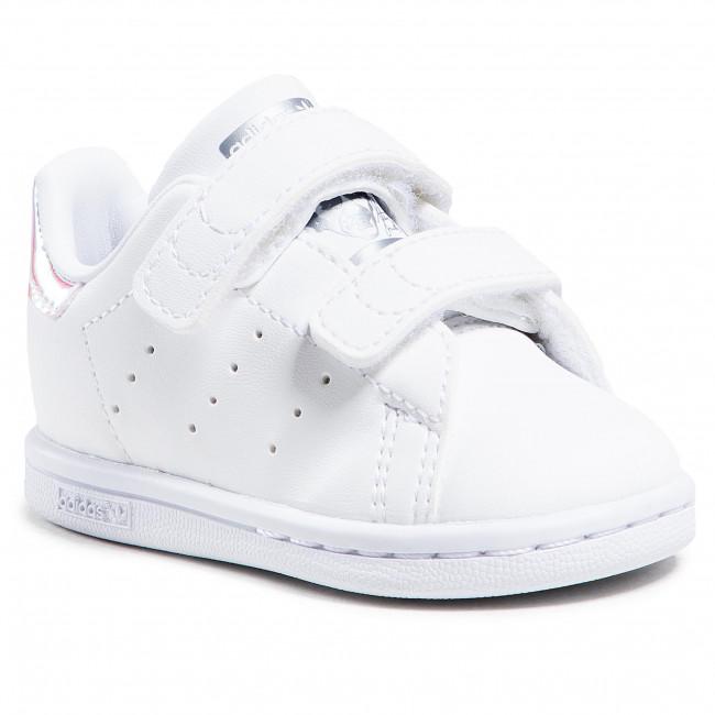 Topánky adidas - Stan Smith Cf I FX7537 Ftwwht/Ftwwht/Silvmt