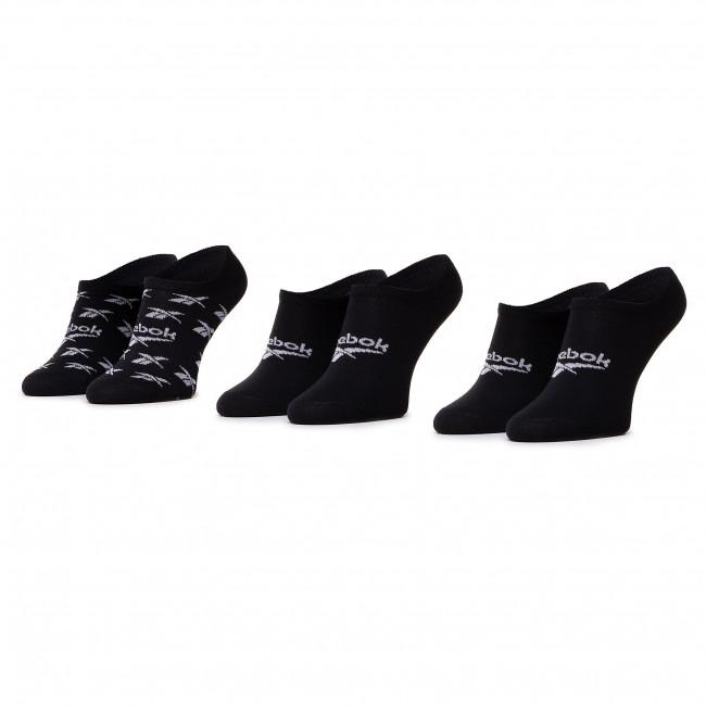 Súprava 3 párov krátkych ponožiek unisex Reebok - Cl Fo Invisible Sock 3P GG6679 Black