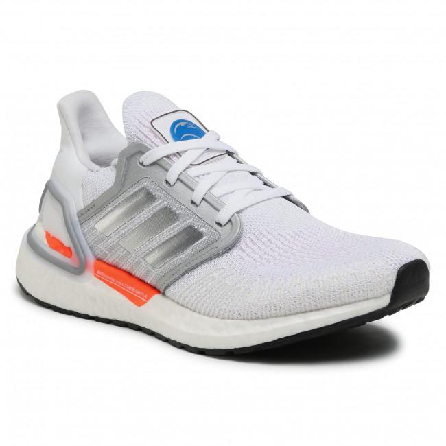 Topánky adidas - Ultraboost 20 W FX7992 Cloud White/Silver Metallic/Fresh Candy