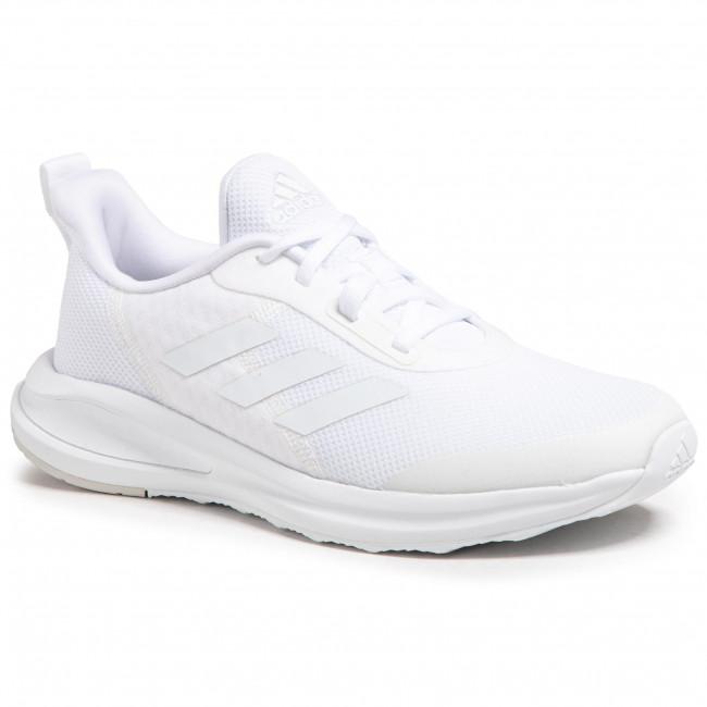 Topánky adidas - FortaRun K FW2595  Ftwwht/Ftwwht/Greone
