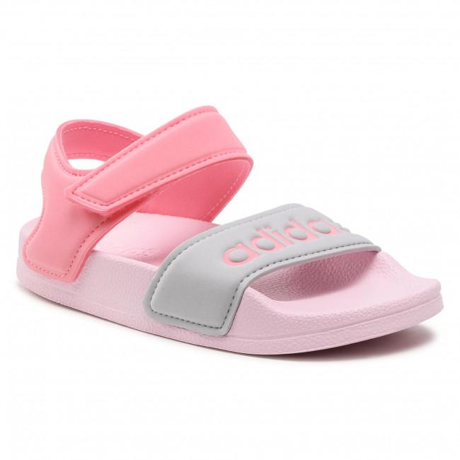 Sandále adidas - adilette Sandal K FY8849  Clpink/Suppop/Silvmt
