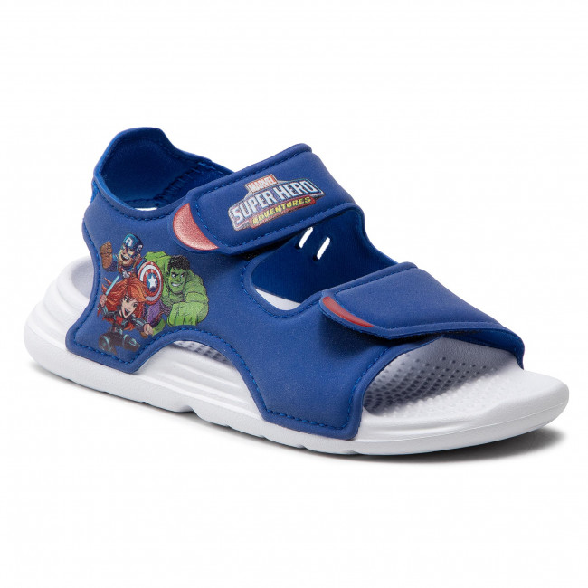 Sandále adidas - Swim Sandal C FY8938 Royblu/Ftwwht/Vivred
