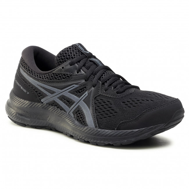 Topánky ASICS - Gel-Contend 7 1012A911 Black/Carrier Grey 001