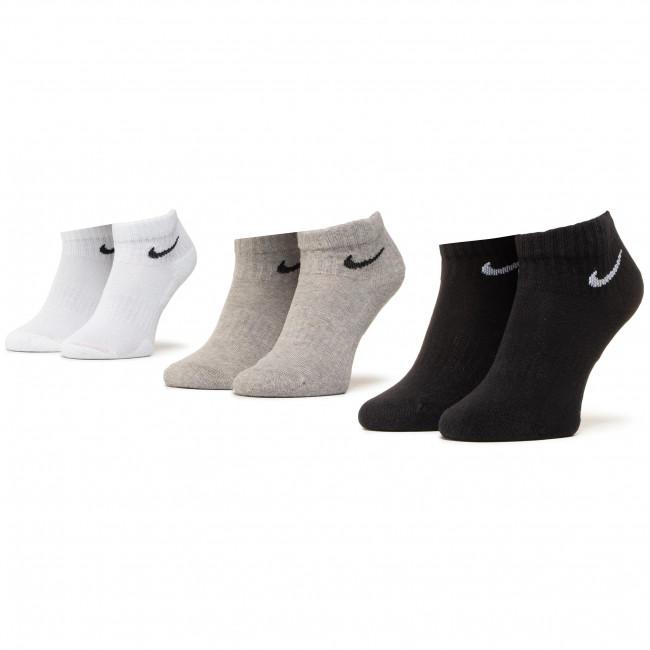 Súprava 3 párov kotníkových ponožiek unisex NIKE - SX7667 901 Čierna Farebná