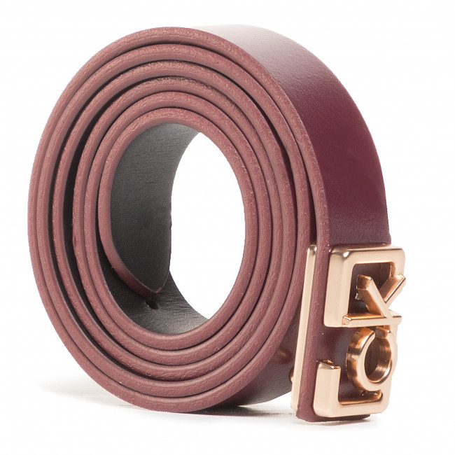 Opasok Dámsky CALVIN KLEIN - Plaque Skinny Belt 20mm K60K607325 GDU