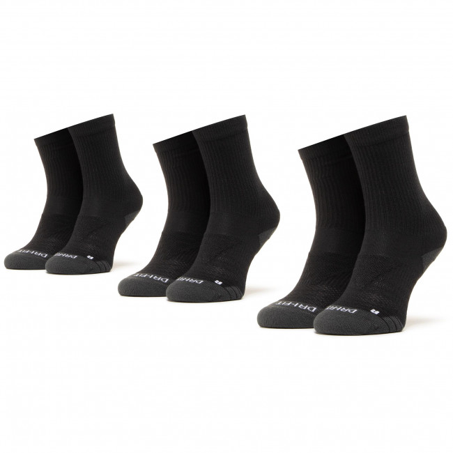 Súprava 3 párov vysokých ponožiek unisex NIKE - SX5547-010 Čierna