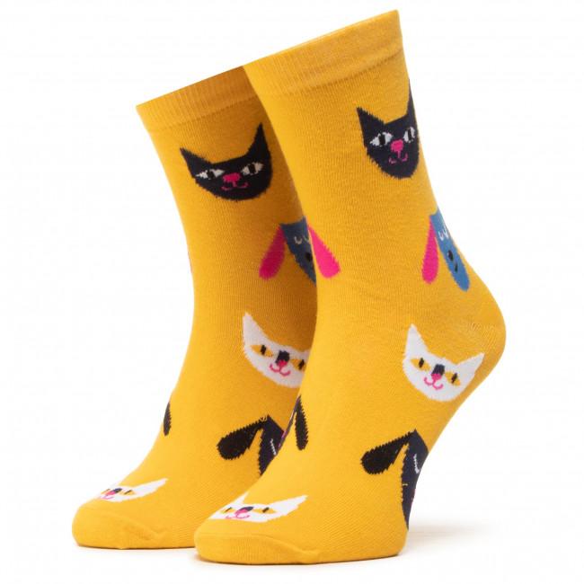 Ponožky Vysoké Unisex DOTS SOCKS - DTS-SX-403-Y Farebná Žltá