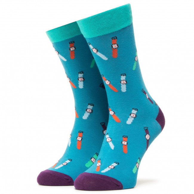 Ponožky Vysoké Unisex DOTS SOCKS - DTS-SX-408-G Farebná Modrá