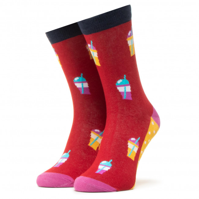 Ponožky Vysoké Unisex DOTS SOCKS - DTS-SX-418-R Čierna Farebná