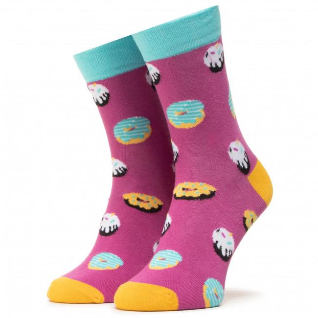 Ponožky Vysoké Unisex DOTS SOCKS - DTS-SX-420-F Farebná Fialová