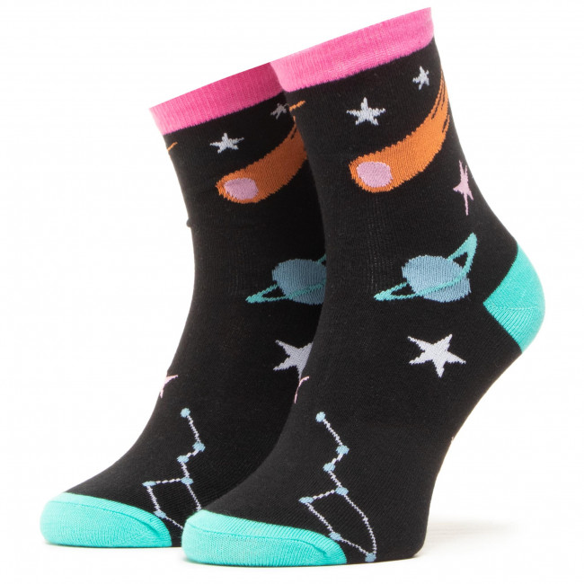 Ponožky Vysoké Unisex DOTS SOCKS - DTS-SX-422-A Čierna Farebná