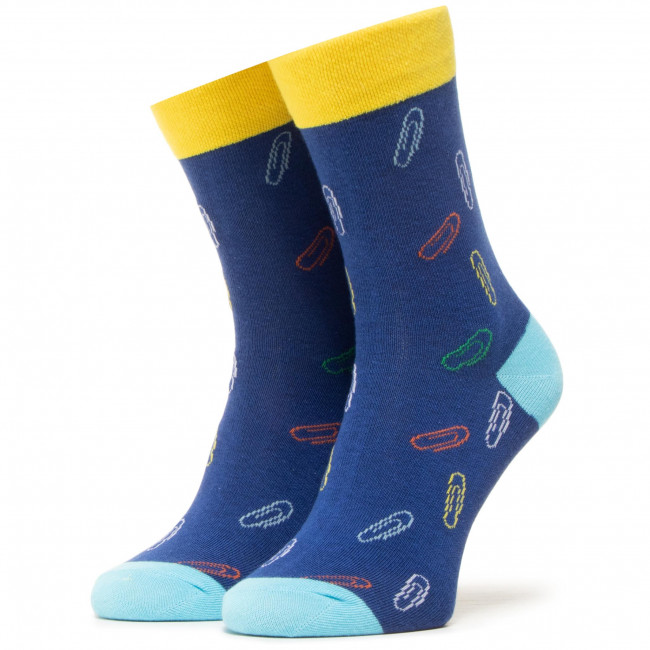 Ponožky Vysoké Unisex DOTS SOCKS - DTS-SX-428-G Farebná Tmavo modrá
