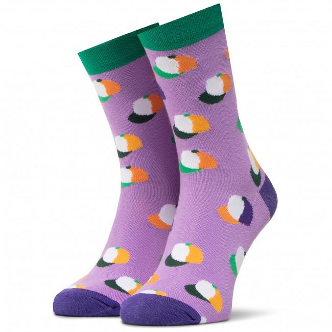Ponožky Vysoké Unisex DOTS SOCKS - DTS-SX-450-F Fialová