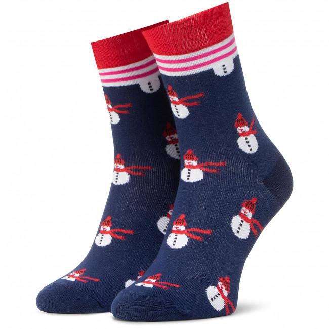Ponožky Vysoké Unisex DOTS SOCKS - DTS-SX-477-G Farebná Tmavo modrá
